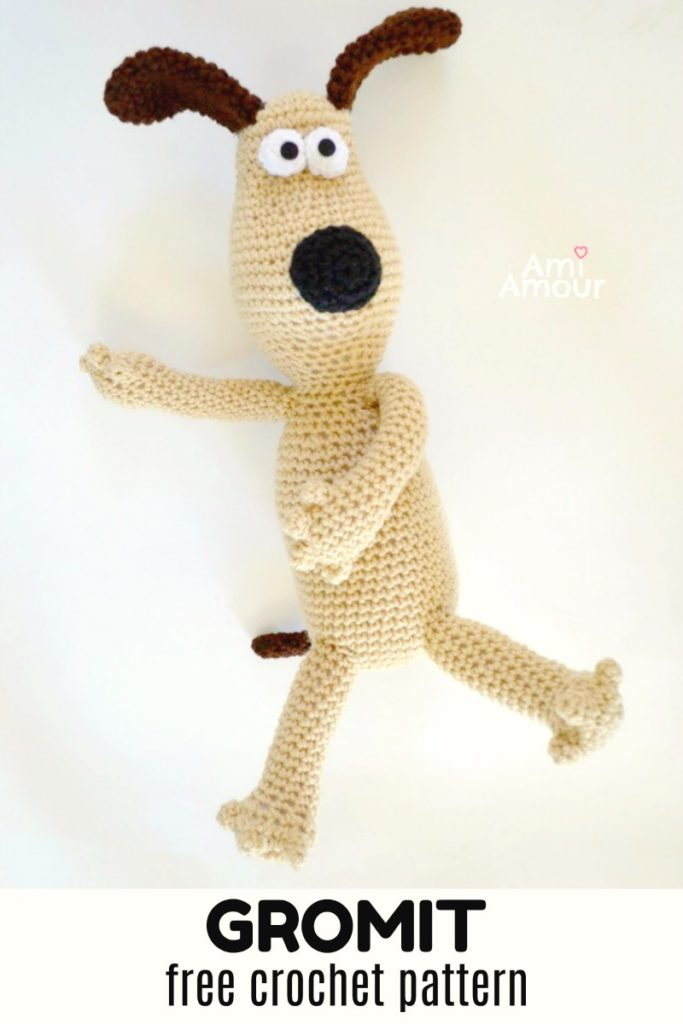 Gromit Crochet Pattern Free - Dog Amigurumi Pattern