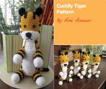 Free Hobbes Crochet Pattern Tiger Amigurumi
