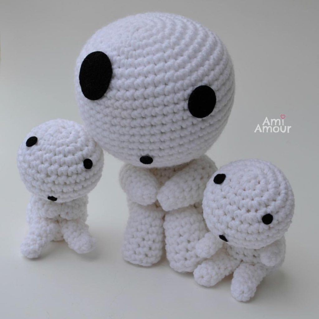 Kodama Amigurumi - Large and small sized.  They also rattle!
