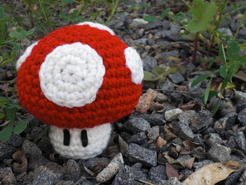 Crochet 1-Up Mario Mushroom by katrivsor on DeviantArt | 375x500