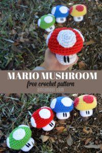 Mario Mushroom Amigurumi Crochet Pattern