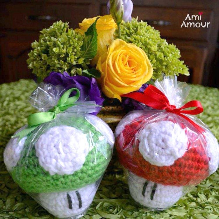 Mario Mushroom Crochet Favors