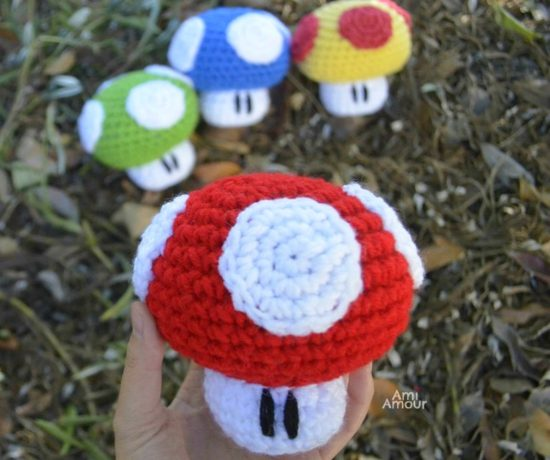 Power-Up Mario Mushroom Amigurumi Crochet Pattern
