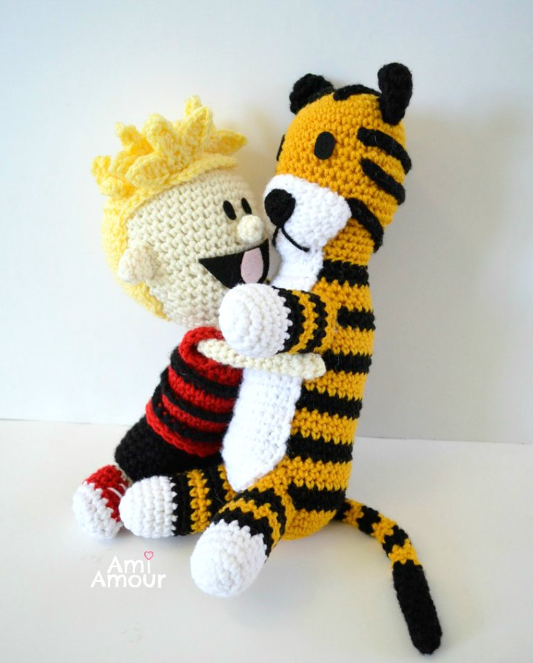 Calvin and Hobbes Crochet Amigurumi
