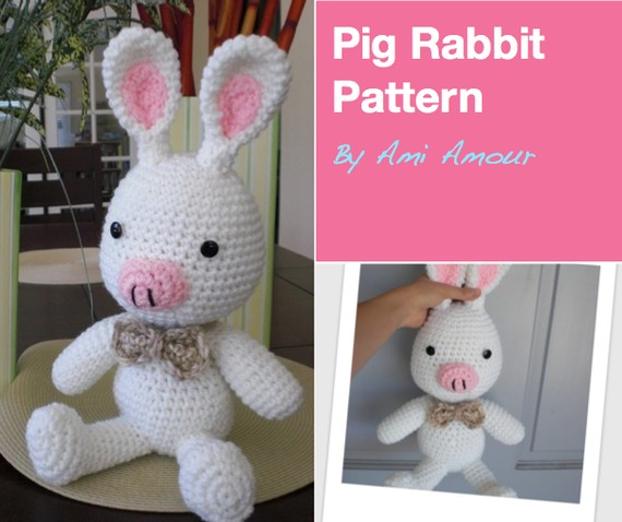 "Free pattern: ""Pink Rabbit Monster"" Finished ~ Amigurumi crochet"