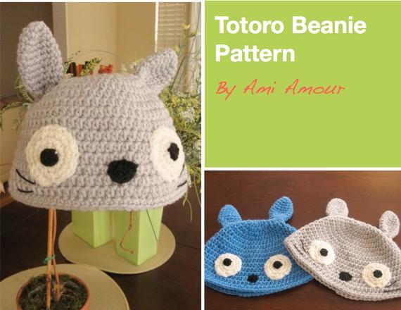 Totoro Beanie Crochet Pattern Ami Amour