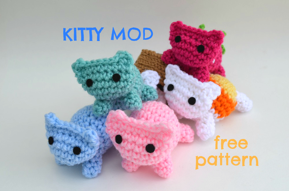 Free Crochet Patterns Cat : Kitty Mod Free Cat Amigurumi Pattern