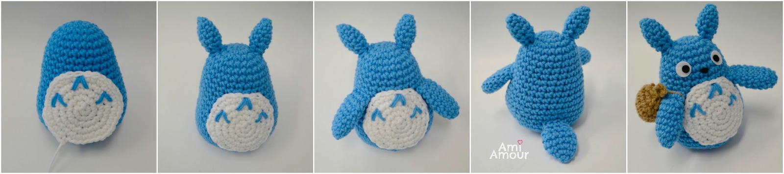 Totoro Amigurumi Patterns and Stop Animation | 356x1600
