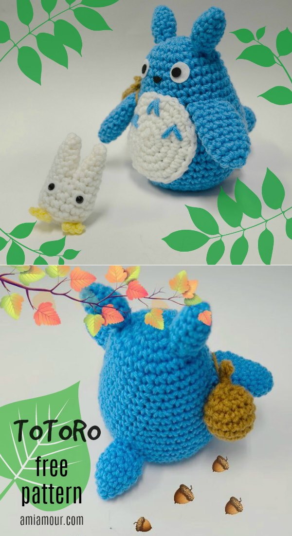 32 Beautiful Image Of Totoro Crochet Pattern | Häkelmützenmuster ... | 1101x600