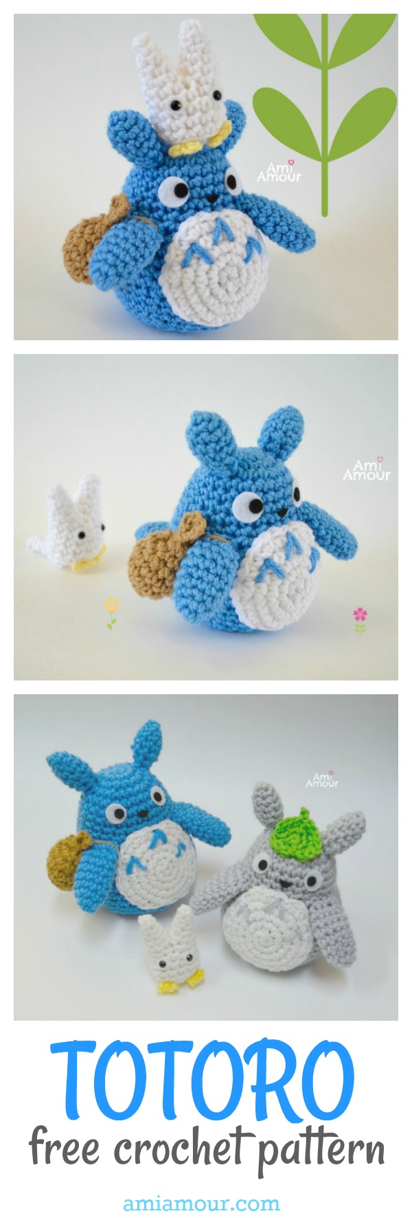 Ami and You — Blue Chu Totoro Free Pattern | 1772x600