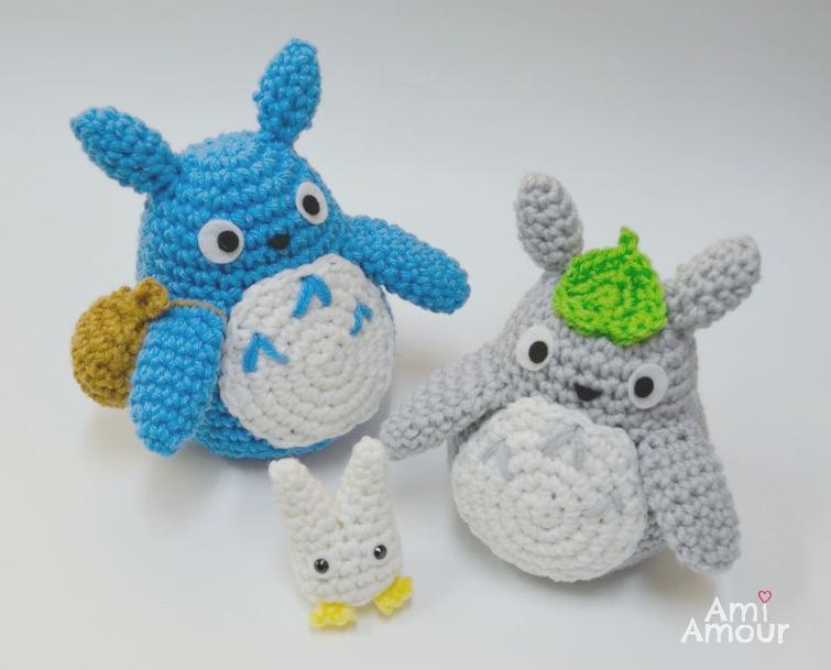 Ravelry: Grey Totoro Amigurumi pattern by Lucy Collin | 609x755