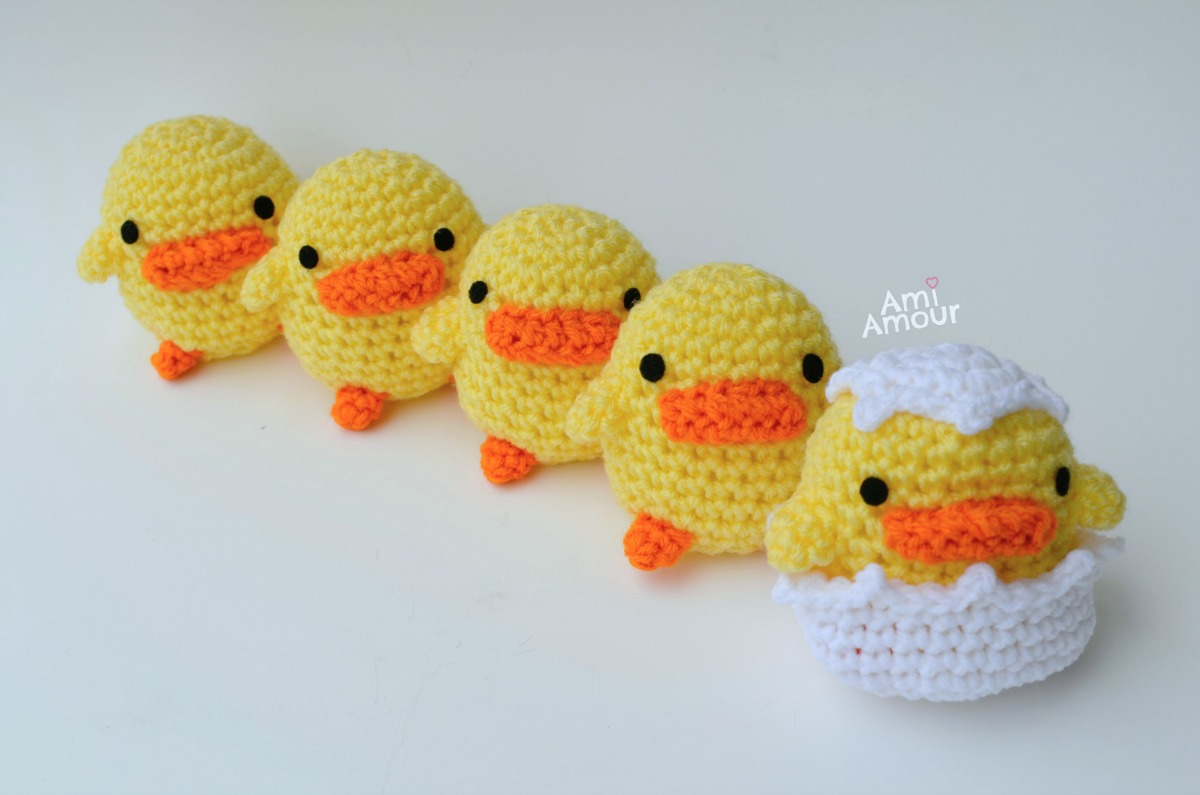 Amigurumi Duck Free Crochet Pattern : Amigurumi duck crochet pattern stuffed toy pattern easter cp