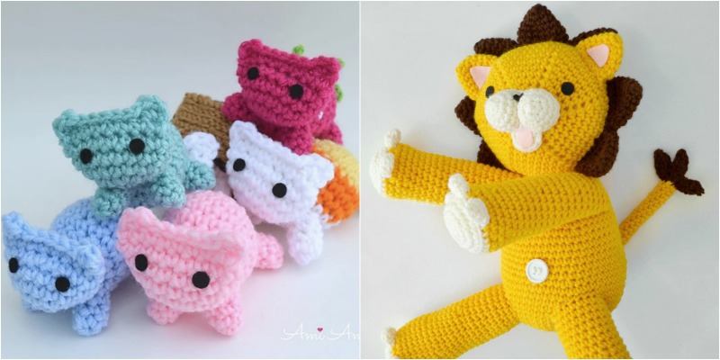 Kitty Amigurumi and Lion Crochet FREE patterns