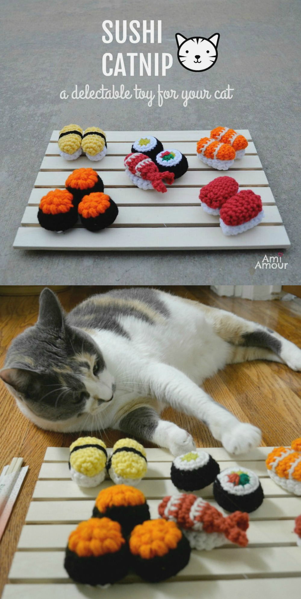Free Catnip Sushi Crochet Pattern