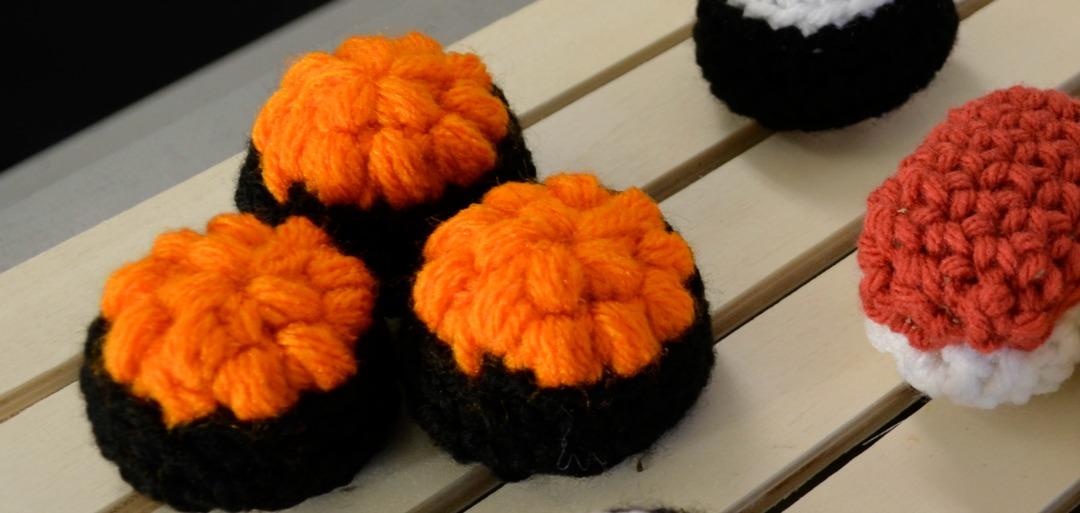 Crochet Sushi Roe Ikura
