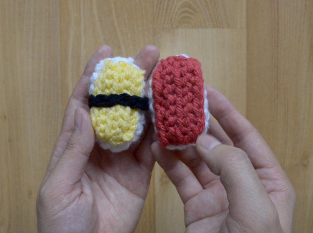 Crochet Tamago Tuna Sushi Amigurumi