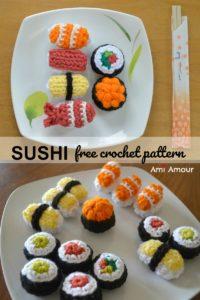 Free Sushi Crochet Pattern
