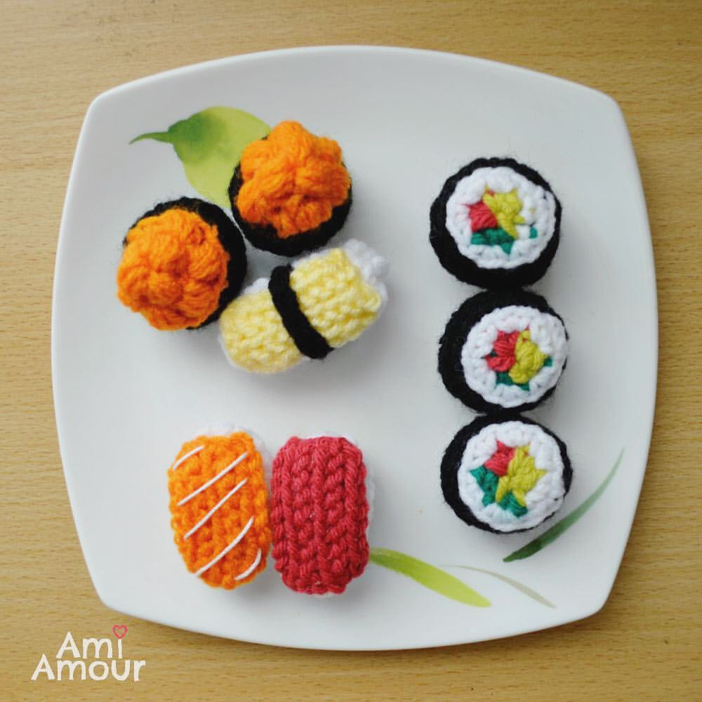 Sushi Crochet Pattern Amigurumi Food