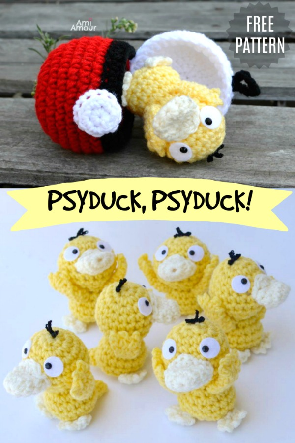 Psyduck Amigurumi - Free Pokemon Crochet Pattern