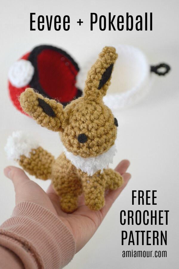 Eevee Crochet Pattern Pokemon Amigurumi