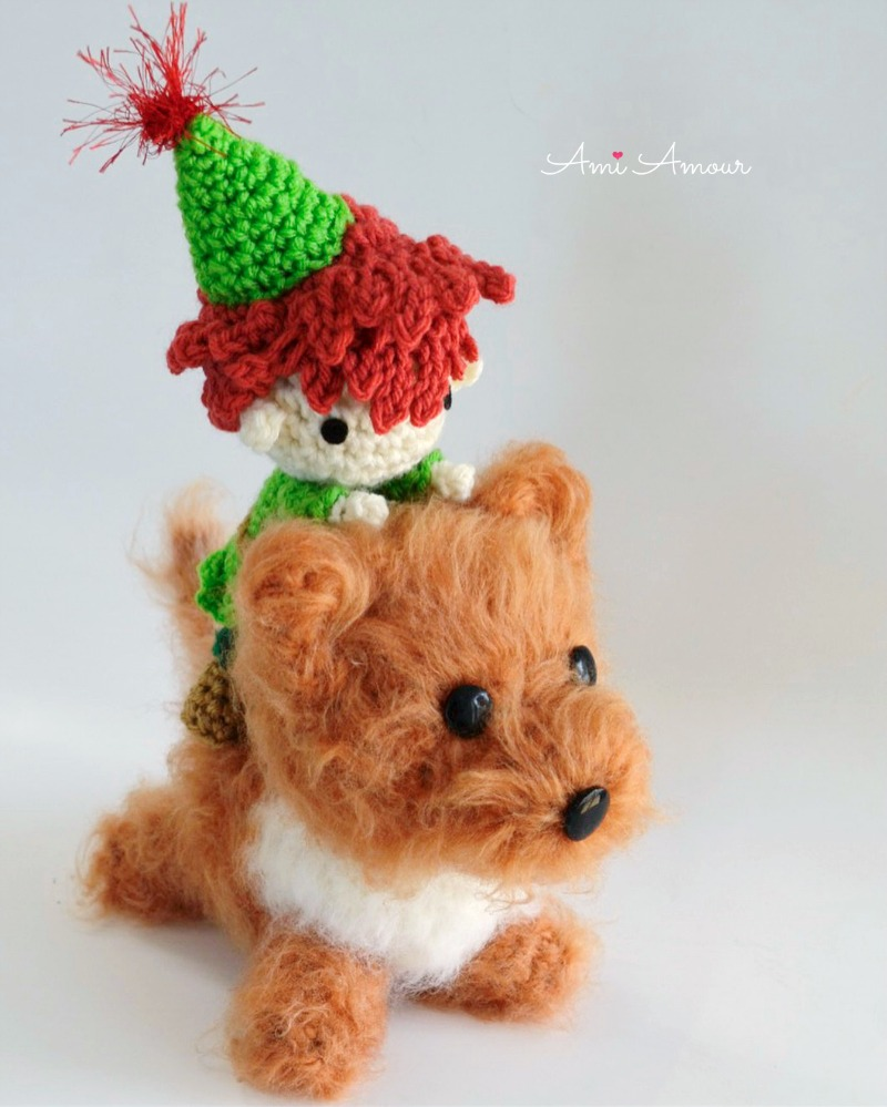 Peter Pan Amigurumi with Nana Brushed Dog  - Free Crochet Patterns