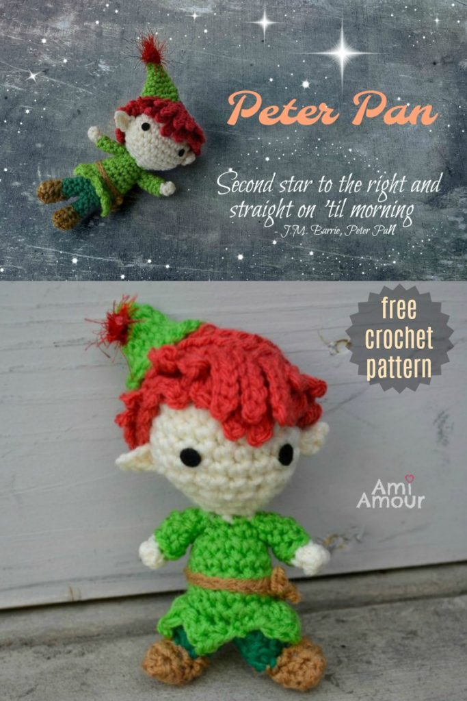 Peter Pan Amigurumi Free Crochet Pattern