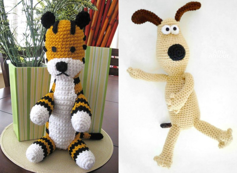 Free Amigurumi Pattern Hobbes and Gromit