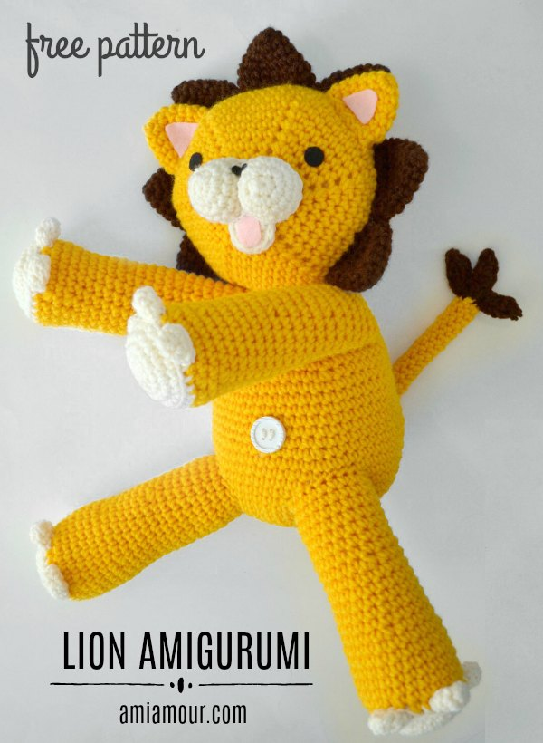 Free Crochet Lion Pattern - thefriendlyredfox.com | 820x600