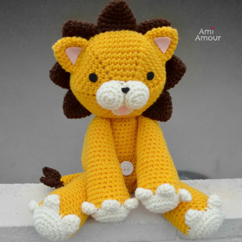 Laurence the Lion Free Amigurumi Pattern (With images) | Crochet ... | 800x800
