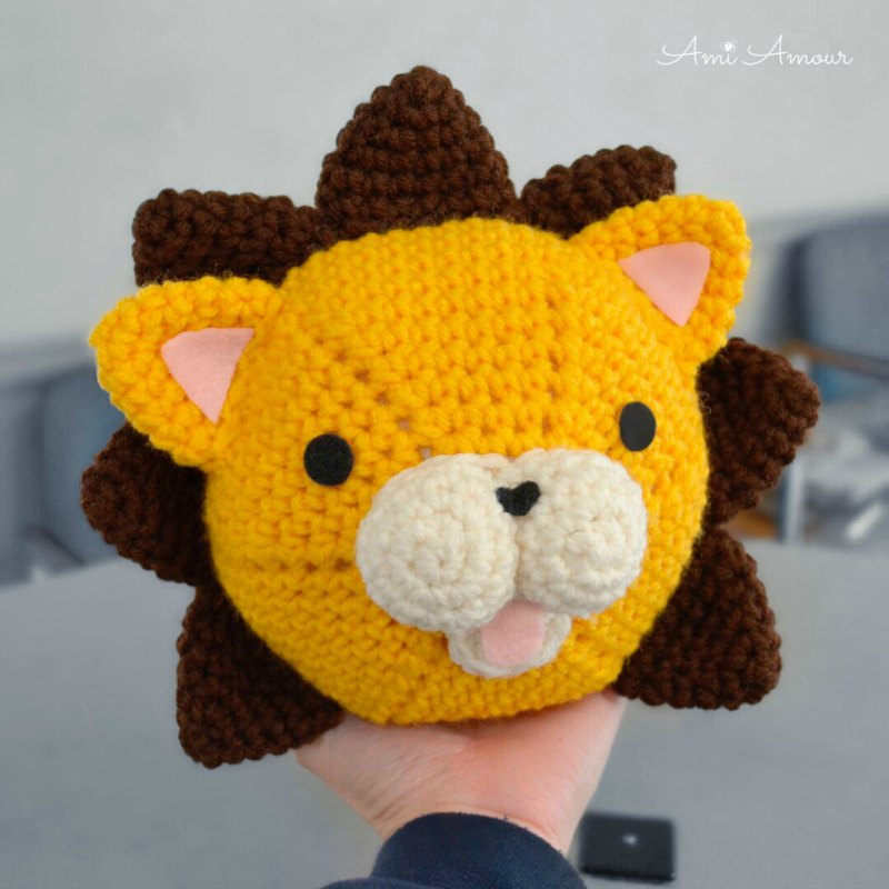Lion Amigurumi Head Free Crochet Pattern