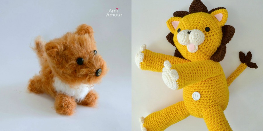 Brushed Dog Crochet Lion Amigurumi