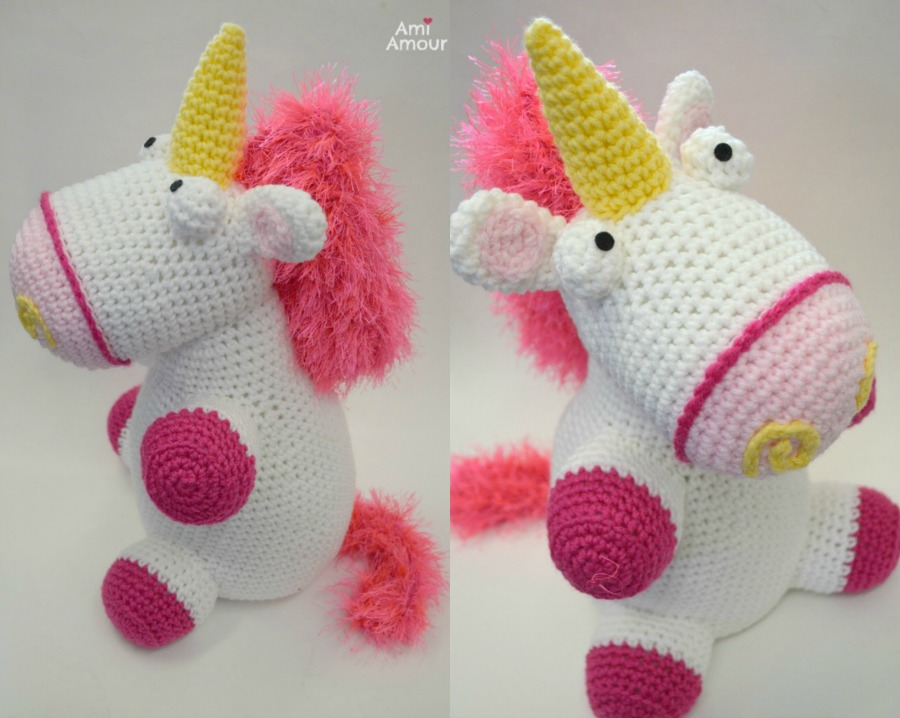 Fluffy Unicorn Crochet Pattern