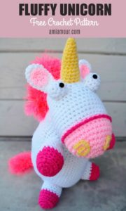 Fluffy Unicorn Crochet Free Pattern