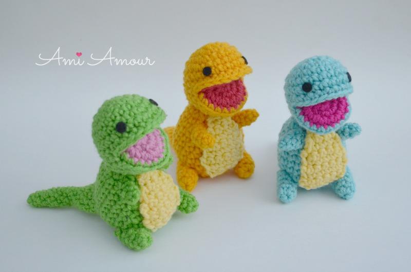 Amigurumi-Dinosaurier