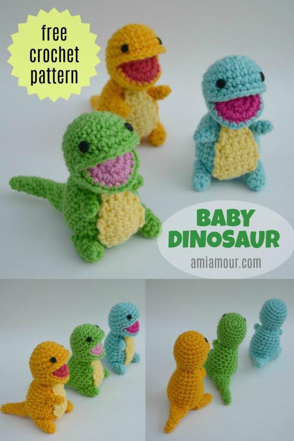 Baby Dinosaur Amigurumi Free Pattern