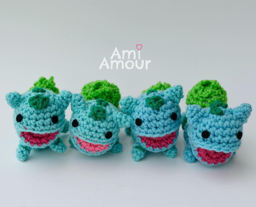 Bulbasaur Amigurumi Open Mouth