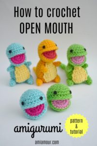 Open Mouth Amigurumi Pattern and Tutorial