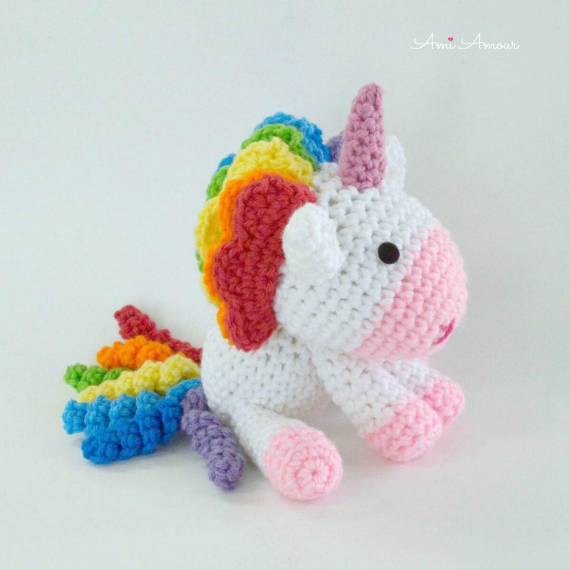 Rainbow Unicorn Amigurumi Crochet