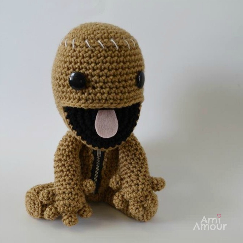 Sackboy Amigurumi Open Mouth