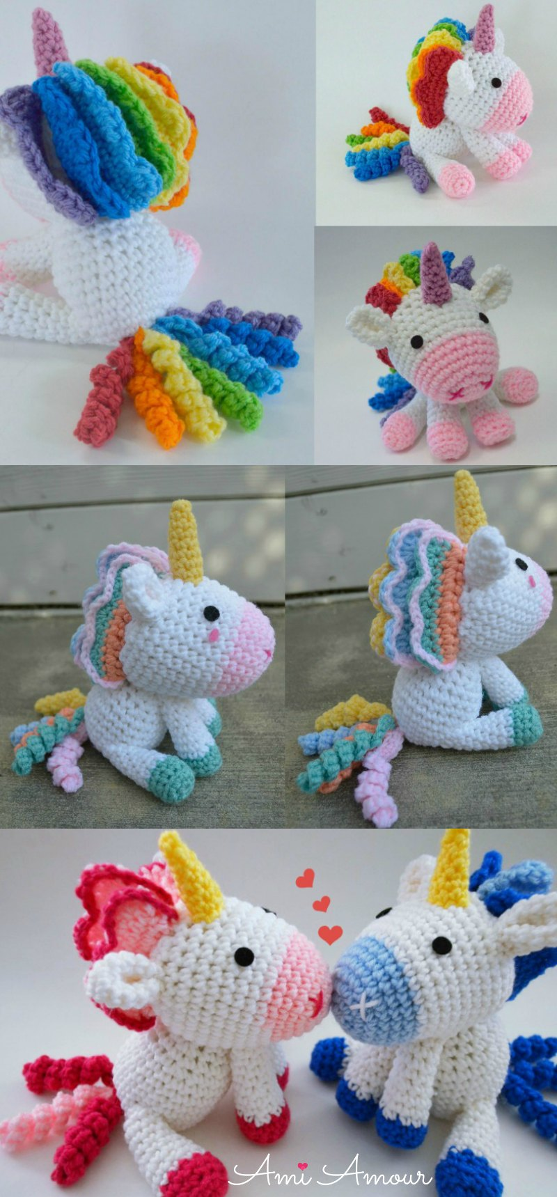 Rainbow Unicorn Amigurumis