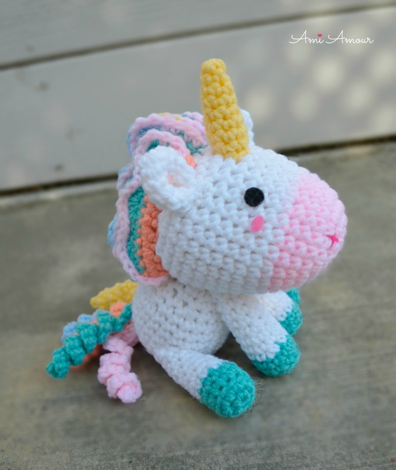 Unicorn Amigurumi Pastel Colors