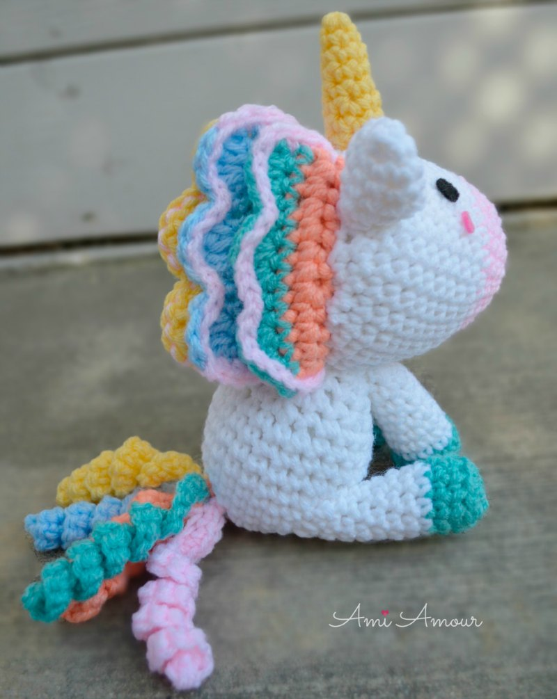 Unicorn Amigurumi Side
