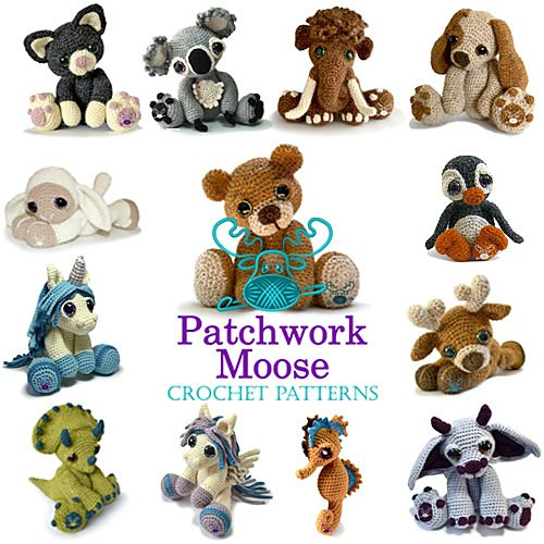 Patchwork Moose Crochet