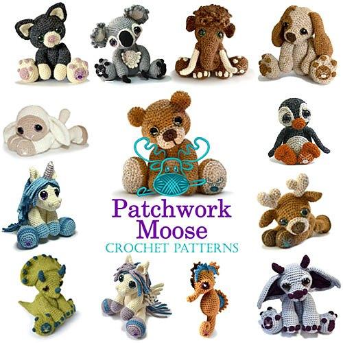 Patchwork Moose Crochet