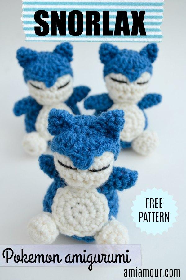 Snorlax Free Crochet Pattern