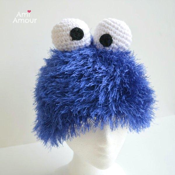 Cookie Monster Hut vorne