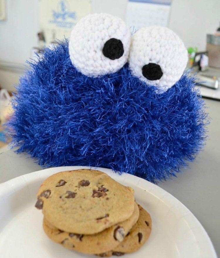 Häkeln Sie Cookie Monster Hut