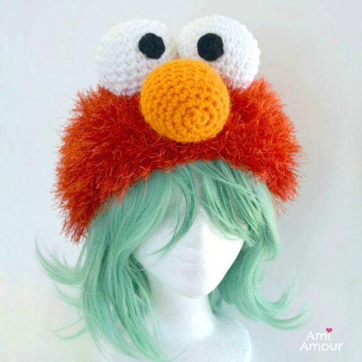 Crochet Elmo Hat Pattern