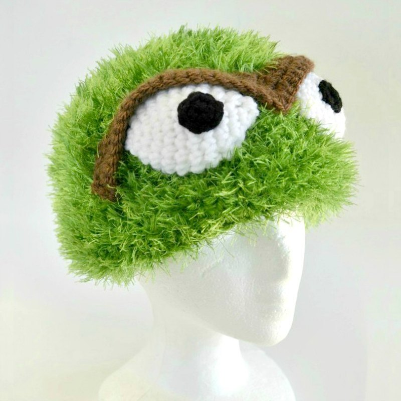 Crochet Oscar the Grouch Hat Pattern