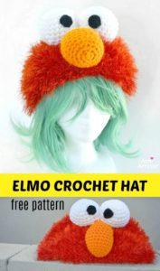 Elmo Crochet Hat Free Pattern
